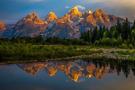 Tetons from Wilson
